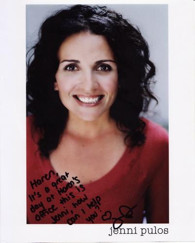actress jenni pulos autograph